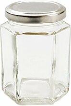 Nutley's Einmachglas, sechseckig, silberner