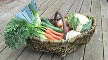 Nutley's Rustikaler Weiden-Gemüsekorb / Gartenkorb, groß