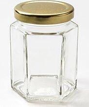 Nutley's sechseckiges Einmachglas, 190ml