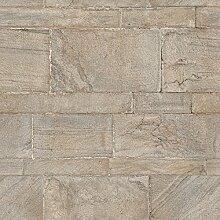 nuwallpaper nu2237Sandstein Wand Abziehen und Aufkleben Tapete–Braun