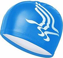 NXL Männer Und Frauen Bademütze Wasserdicht Sonnenschutz 2PCS Eine Vielzahl Von Optional Erwachsene,Blue