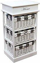nxtbuy Schubladenregal aus Holz in Weiß -