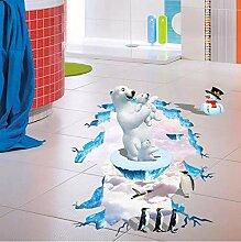 nxychunmei Kreative 3D Eisbär Pinguin Boden
