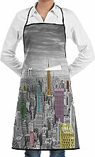 NYC New York City Skyline Grill Aprons Kitchen