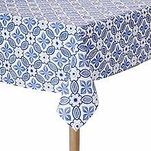 Nydel EUS97056413 Tischdecke, Blau, rund, 160 cm