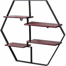 NYDZDM Wandschmuck Designer Regal Hexagon