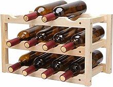 NYDZDM Wine Rack Weinregal für 12 Flaschen,