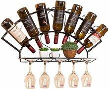 NYDZDM Wine Rack Weinregal zur Wandmontage, mit