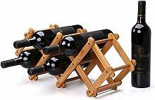 NYDZDM Wine Rack Zusammenklappbares Weinregal für