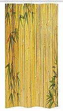 Nyngei Bambuskabine Duschvorhang gelb gefärbten