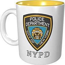 NYPD Logo Farbige Tasse Porzellan Tasse 330 ml