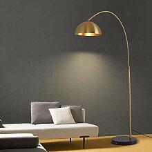 NZDY Gewölbte Stehlampe Marmorsockel Nordic