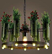 NZDY Kreative Glas Weinflasche Kronleuchter