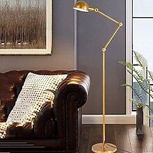 NZDY Moderne Industrielle Stehlampe Goldene