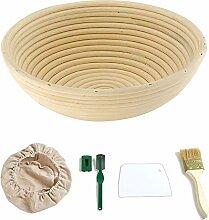 NZNNXN 9 Zoll Brot Proofing Basket Round Banneton