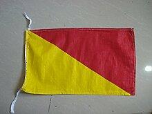 O–International Maritime Signal Code Flagge, 100% Baumwolle, 20,3x 33cm–Marine/Nautical/Boo