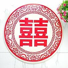 O & A ES Roter Teppich, rund, für Flur / Feste,