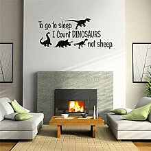 o Go to Sleep Englisch Dinosaurier Wandaufkleber