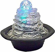 O.R.E ore Tischbrunnen mit Mehreren Lichtern, 19 cm