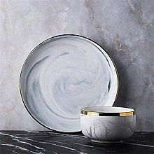 O&YQ Haushalts Aufbewahrungsschalen Nordic Ceramic