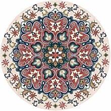 O&YQ Home Dekorative Teppichunterlage Runder