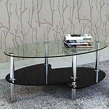 Oakome Glastisch, rund, 3-stöckig, Esstisch, für