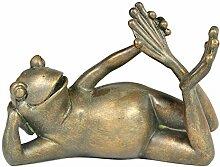 OAMORE 3pcs Kreative Frosch Statuen Frosch