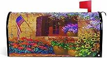 Oarencol Dekoratice Haus Blumen Fenster Amerika