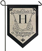 Oarencol Vintage Monogramm Buchstabe A Welcome