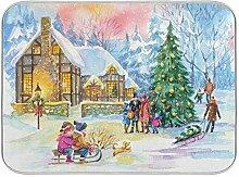 Oarenol Village Weihnachtsgeschirr-Trockenmatte,