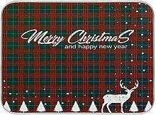 Oarenol Weihnachtsgeschirr-Trockenmatte, Baum,