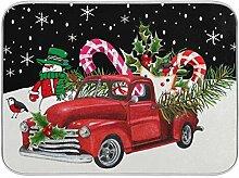 Oarenol Weihnachtsgeschirr-Trockenmatte für LKW,
