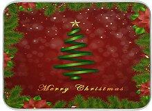 Oarenol Weihnachtsgeschirr-Trockenmatte für