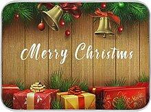 Oarenol Weihnachtsgeschirr-Trockenmatte, Geschenk,