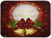 Oarenol Weihnachtsgeschirr-Trockenmatte, Glocken,