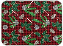 Oarenol Weihnachtsgeschirr-Trockenmatte mit