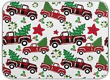 Oarenol Weihnachtsgeschirr-Trockenmatte, roter