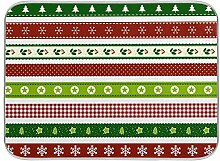 Oarenol Weihnachtsgeschirr-Trockenmatte, Schleife,