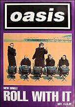 Oasis – Roll with It – Poster Plakat Drucken