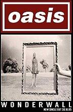 Oasis – Wonderwall – Poster Plakat Drucken