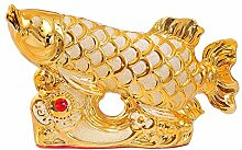 obbrt Keramik Dekoration Golden Dragon Fish