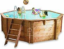 Oberirdisches Schwimmbecken aus holz JARDIN 537