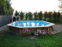 Oberirdisches Schwimmbecken aus holz JARDIN 727