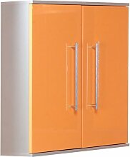 Oberschrank Orange Hochglanz ca. 65 x 73,5 x 21 cm