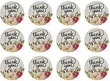 Oblique Unique® 12 Thank You Danke Sticker mit