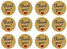 Oblique Unique® 12 Thank You! Danke Sticker mit