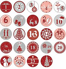 Oblique Unique® 24 Adventskalender Sticker Zahlen