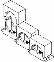 OBO BETT. Reihen-Druckschelle Iso,gr 2037 3-7 LGR