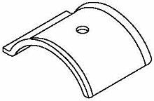 OBO Bettermann Auflage Gegenteil Enercon 40–46mm, PP, hellgrau 2058FW 46ENER