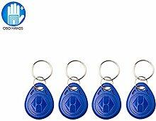 OBO HANDS 125 KHz Wiederbeschreibbar RFID Schlüsselanhänger Schlüsselanhänger T5577 Schlüssel Zeichen Tag für Zugangskontrolle Benutzer Karte Blue (20)